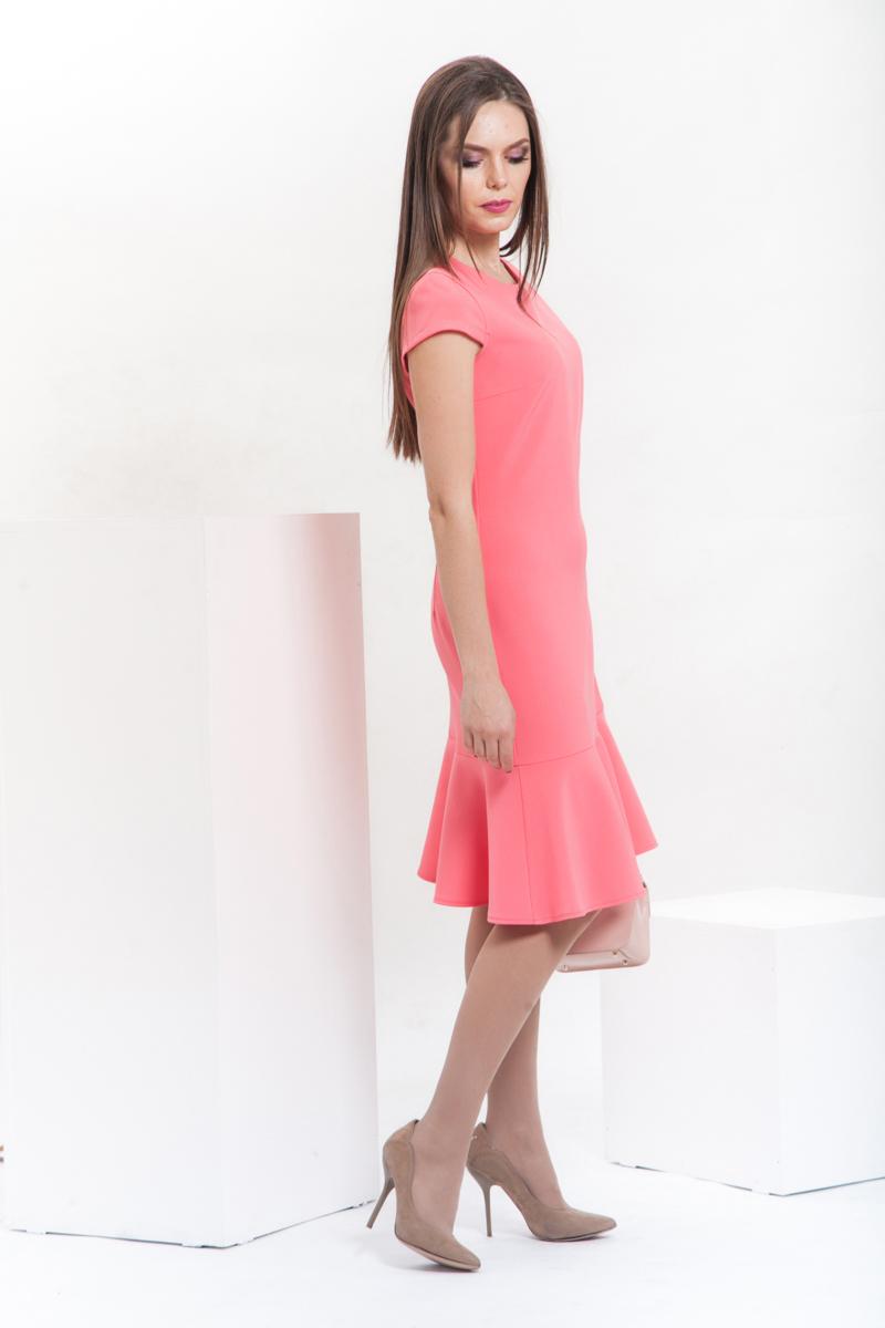 40d5e0cc2d14 Платье с притачным воланом, П-343 2 купить оптом в интернет-магазине ...