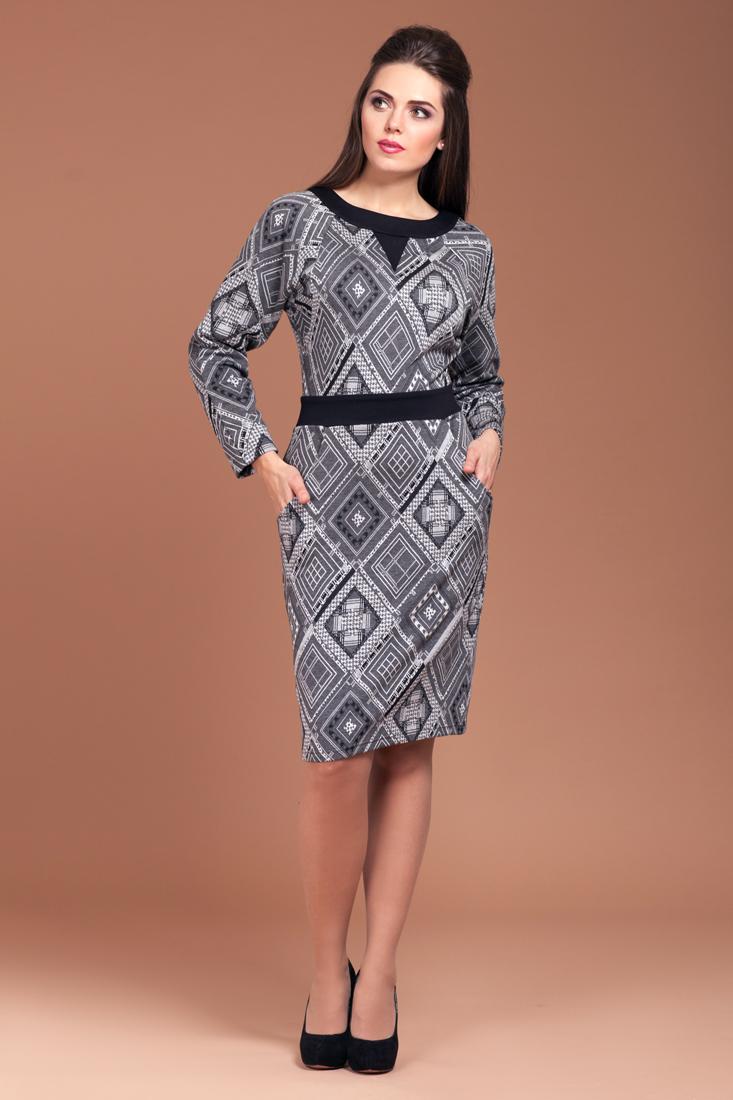 Платье теплое П-391