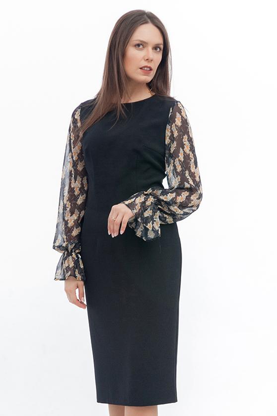 bc4f3f35fe0 Платье с рукавами из шифона