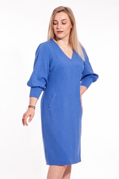 Платье с расширенными рукавами, П-0504