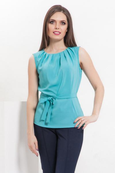 Блуза без рукавов цвет мята, Б-220/1